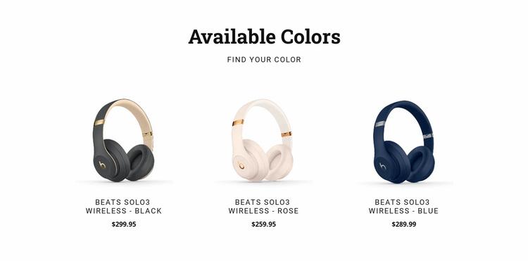 Modern headphones Landing Page