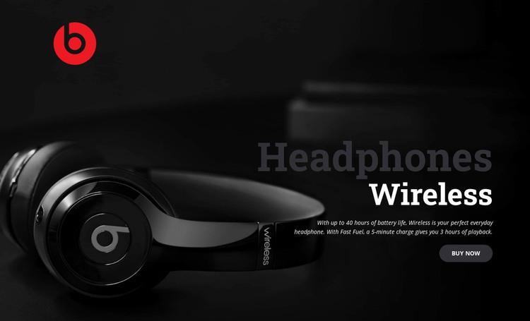 True wireless headphones WordPress Theme