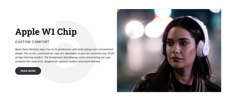 Headphones & speakers WordPress Website