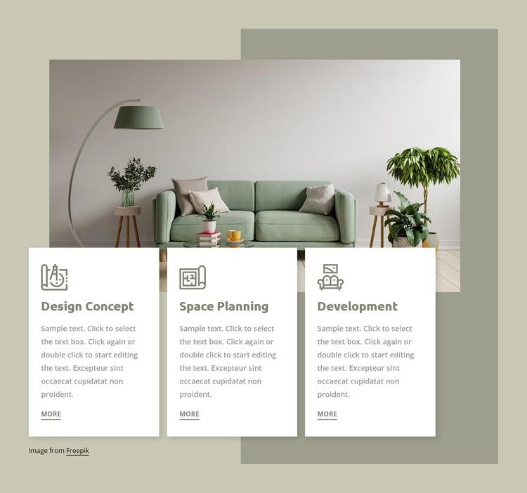 Interior studio services Html Code Example