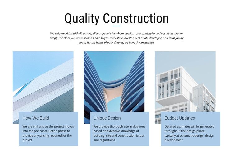 Construction projects HTML Template