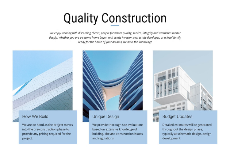 Construction projects Template