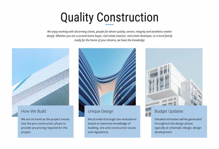 Construction projects Website Template