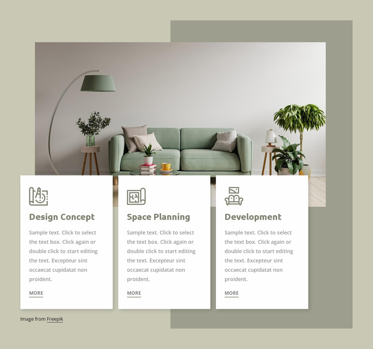 Interior studio services Website Template