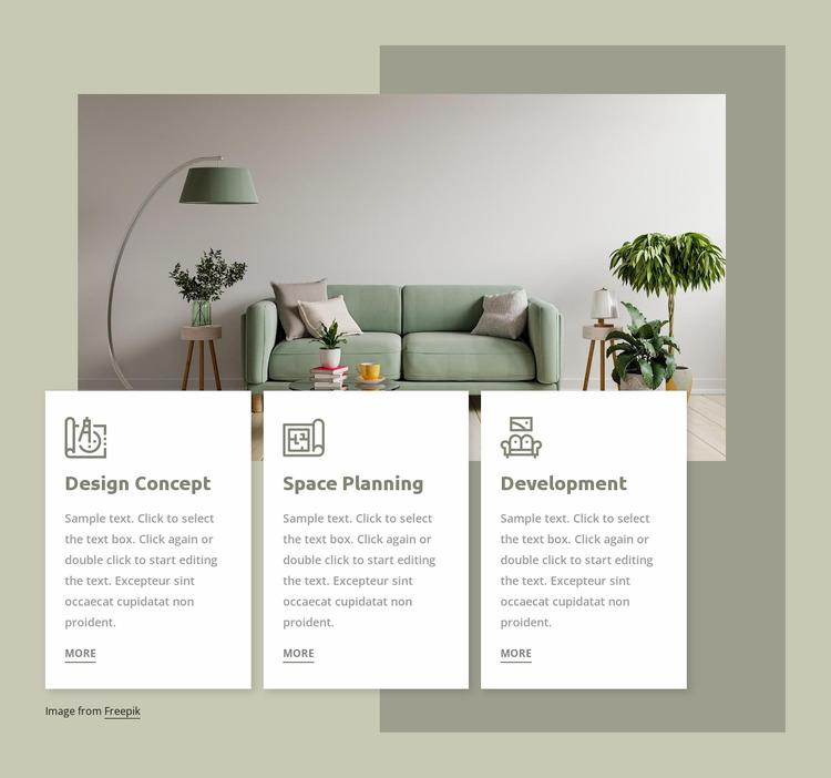 Interior studio services WordPress Website Builder