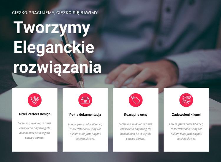 Twórz kreatywne rozwiązania Szablon witryny sieci Web