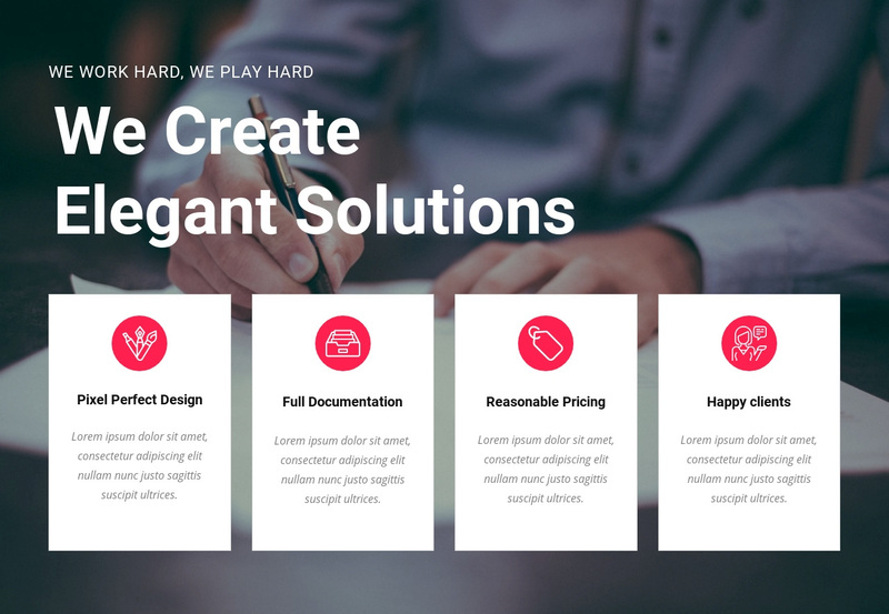 Create creative solutions Web Page Design