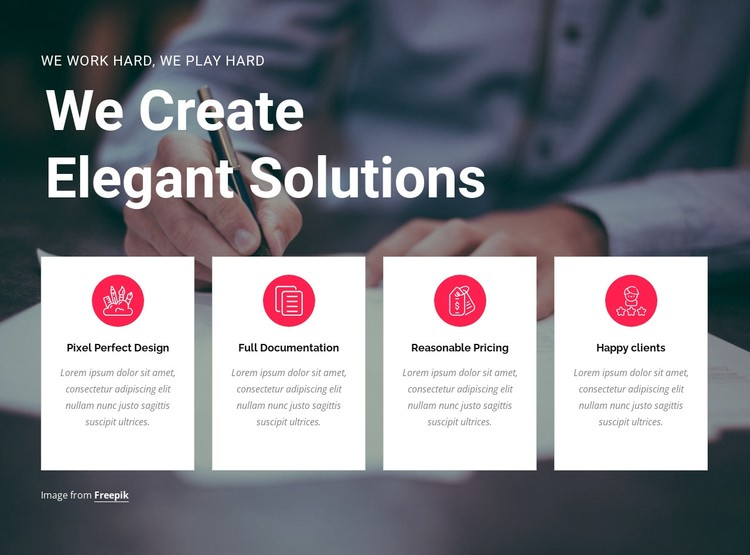 Create creative solutions WordPress Template