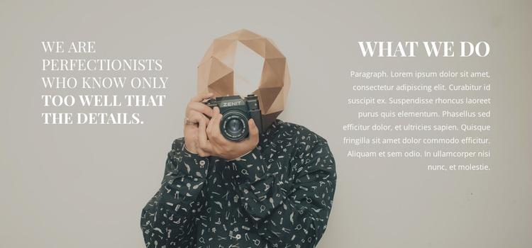 Top photographer Website Template