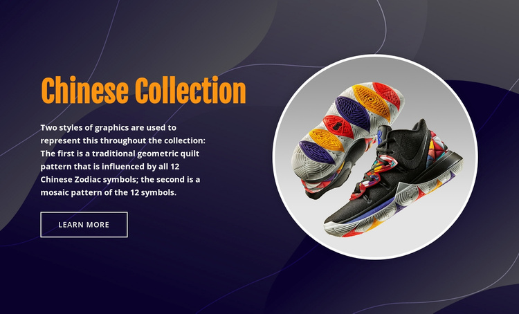Chinese sportswear Website Template