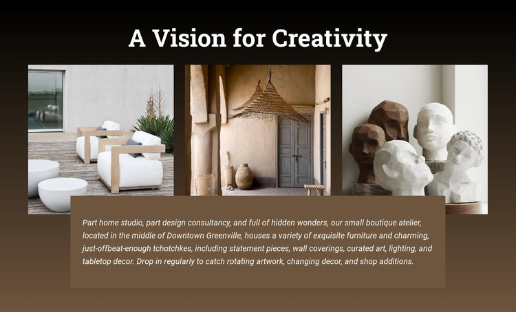 A vision of creativity Joomla Page Builder