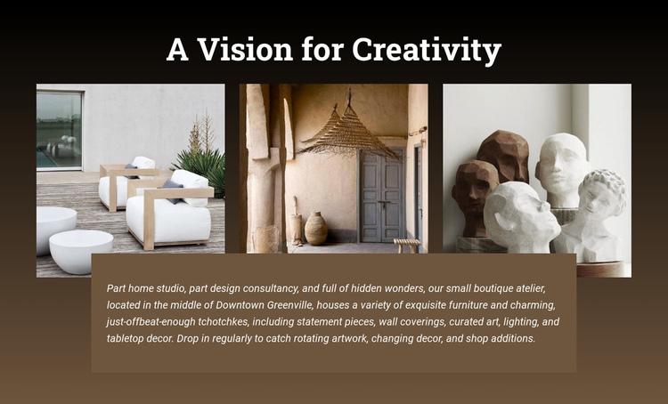A vision of creativity Website Builder Software