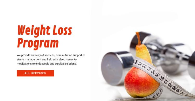 Weight Loss Program HTML Template