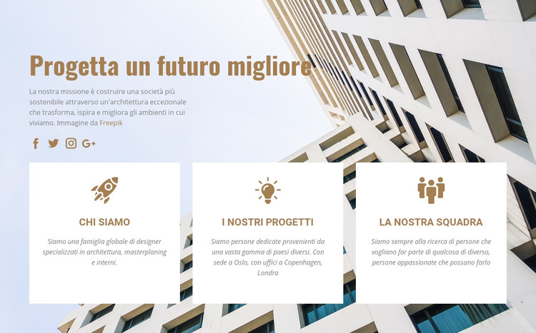 Inventiamo il futuro Modello di sito Web