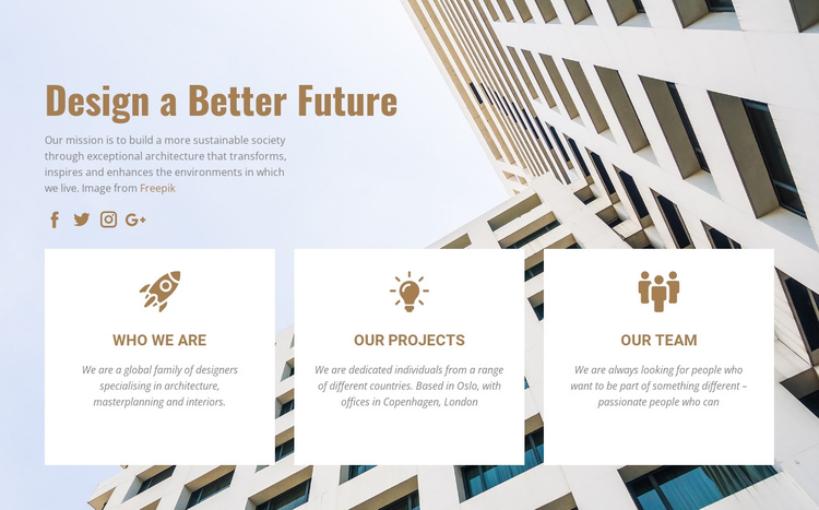 We invent the future One Page Template