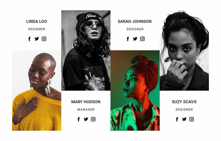 Fashion innovation agency Landing Page
