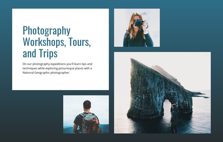 Photography tours and trips  HTML Template