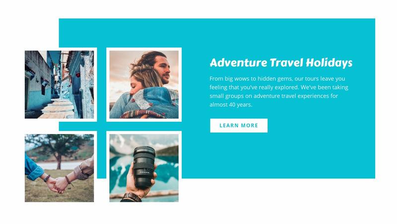 Adventure travel holidays  Web Page Designer