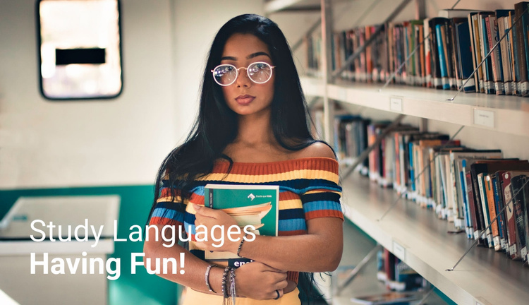 Study languages  Website Template