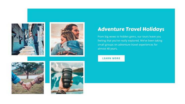 Adventure travel holidays  Woocommerce Theme