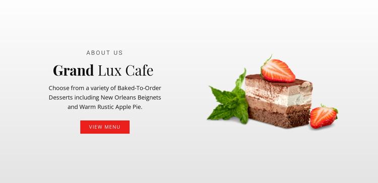 Flapjacks and brownies Website Template