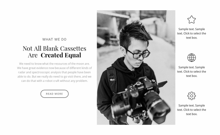 Courses for photographers Website Template