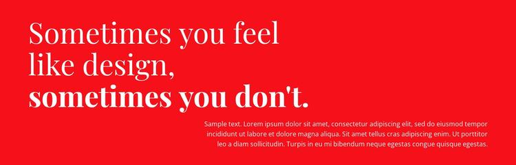 Design and decor  Website Mockup