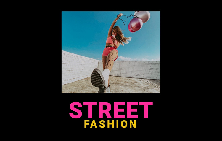 Street youth fashion Website Template