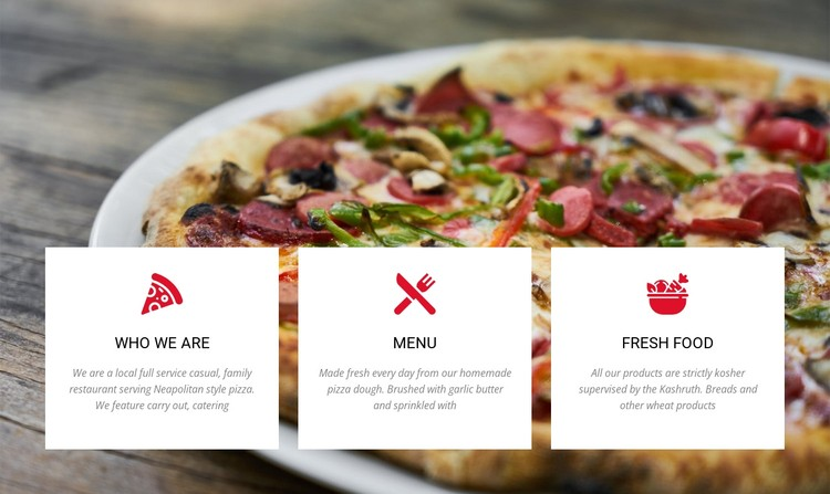 Large combo pizza CSS Template