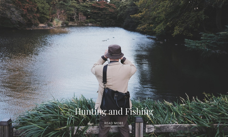 Hunting and fishing  HTML Template