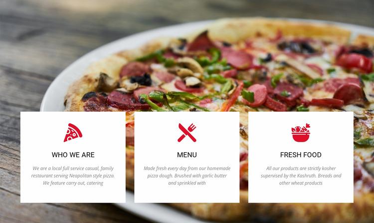 Large combo pizza WordPress Website Builder