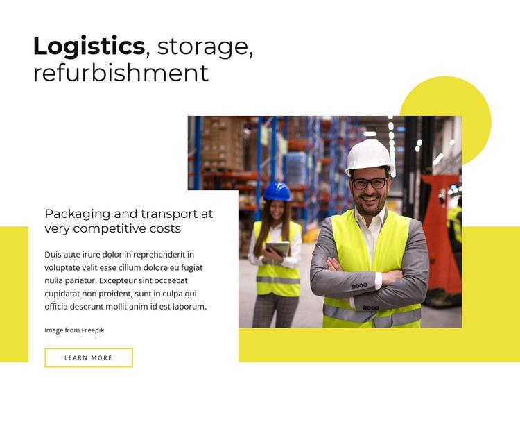 Logistics, refubishment Joomla Page Builder