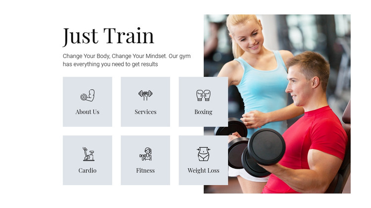 Different training programs HTML Template