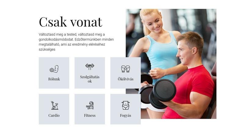 Különböző képzési programok Weboldal sablon