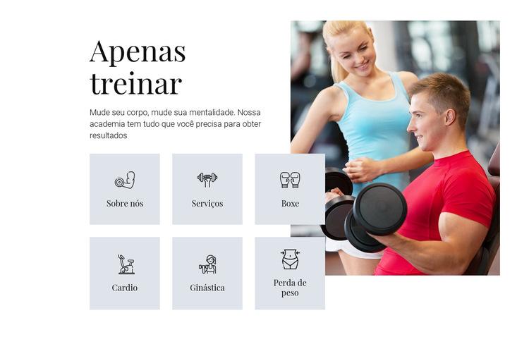 Diferentes programas de treinamento Modelo de site