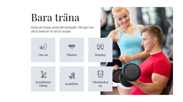 Olika träningsprogram Webbplats mall