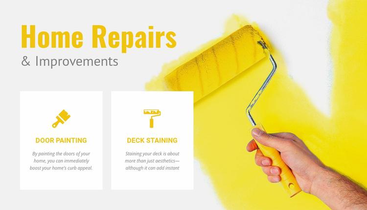Preparing walls for painting Website Design