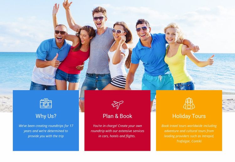 Plan and book your flights Website Template