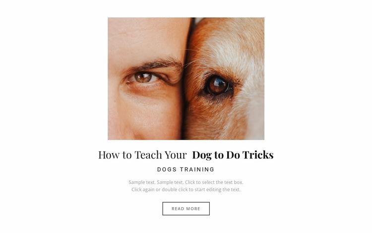 Dog it's a best friend Website Template