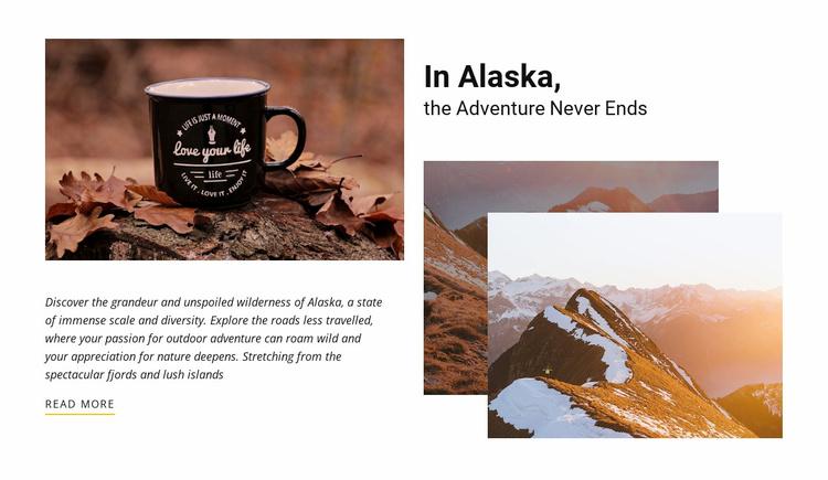 Adventure never end Website Template