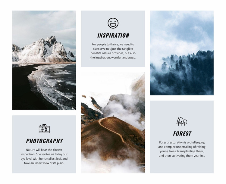 Nature is an inspiration WordPress Website Builder
