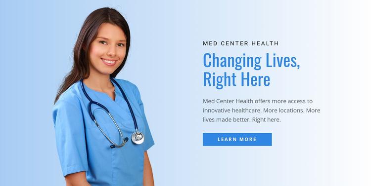 Health & detox center  Website Builder Templates