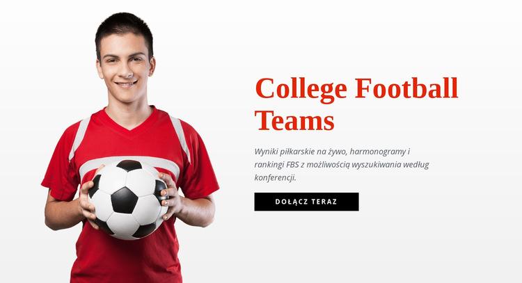 Uczelniane drużyny piłkarskie Szablon witryny sieci Web