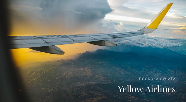 Usługi transportowe linii lotniczych Szablon witryny sieci Web