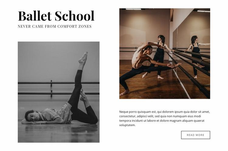 Classic ballet school WordPress Website Builder