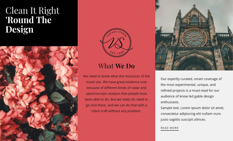 Round the design HTML Template