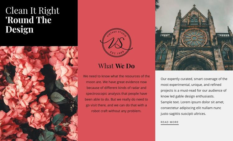 Round the design WordPress Website