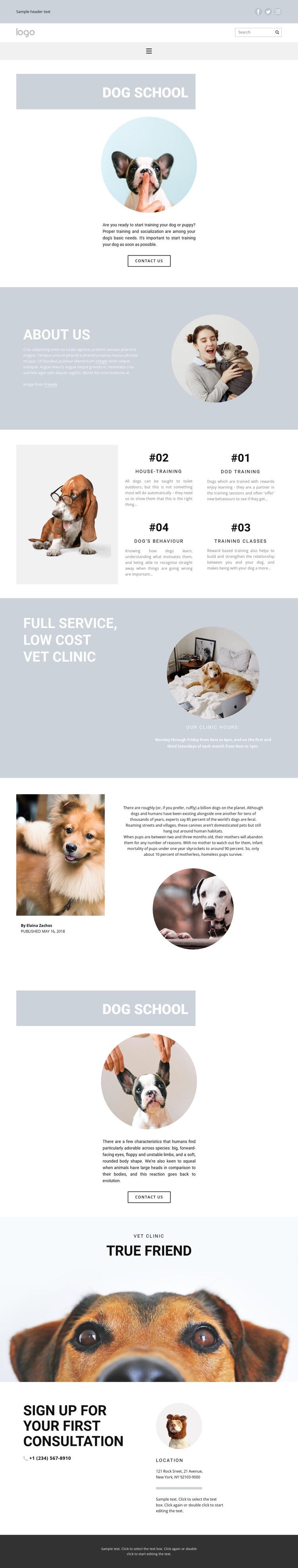 Raising dogs HTML Template