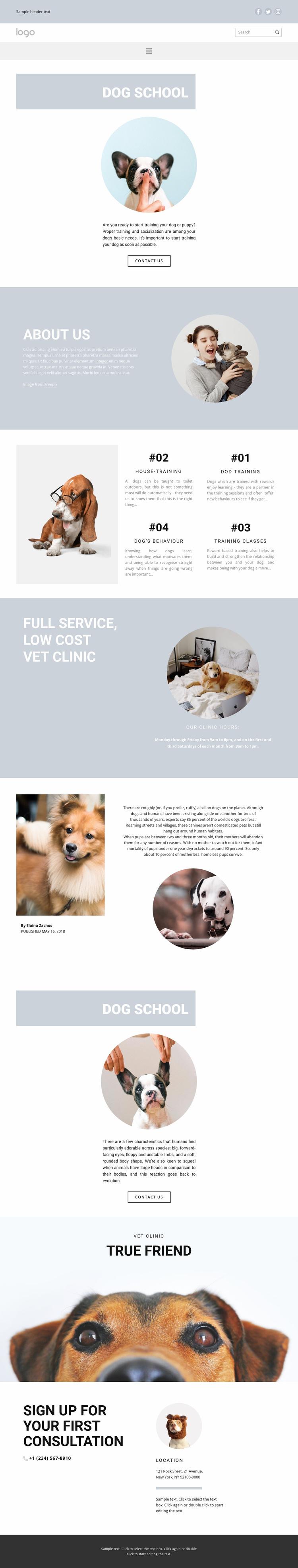 Raising dogs Website Template