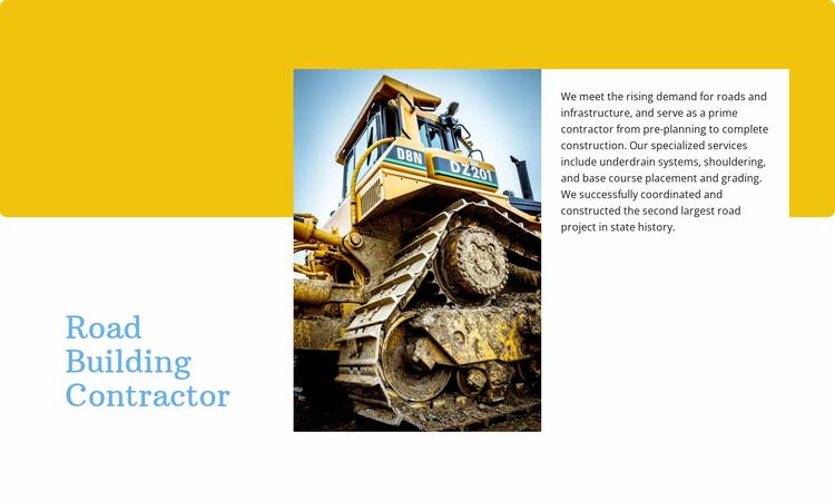 Road building contractor  Website Template